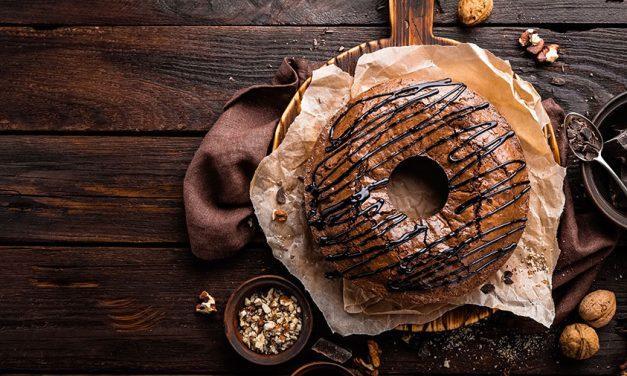 Chocolate Brownie Cake with Walnuts