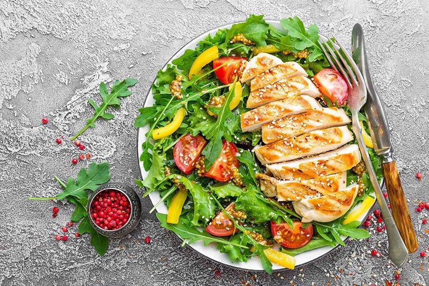 Grilled Lemon Chicken Salad