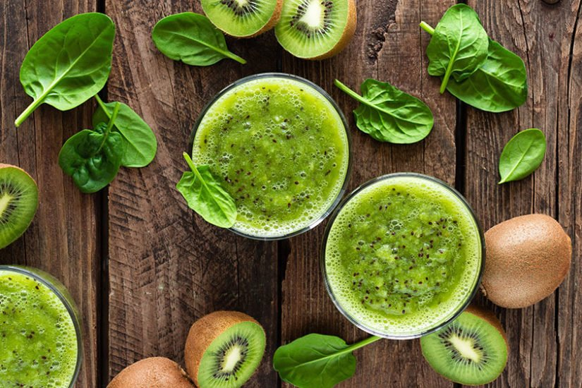 Kiwi Smoothie Recipe with Spinach