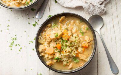 Vegan Chicken & Rice Soup