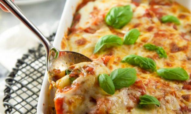 Spinach and Mozzarella Baked Ravioli