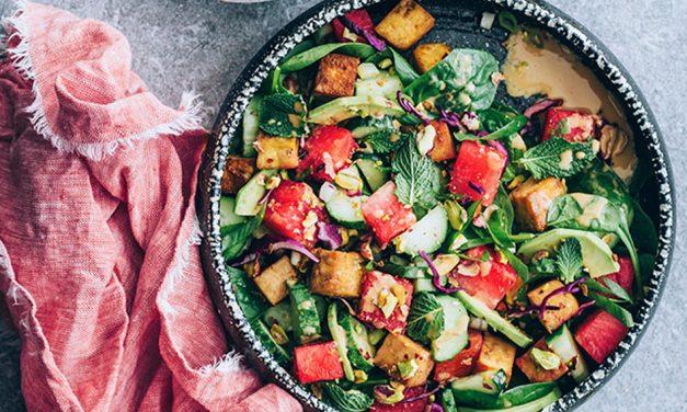 Watermelon Salad with an Asian Twist