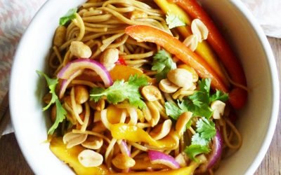 Thai mango salad noodles
