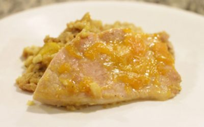 Dijon and Peach Glazed Pork Chops