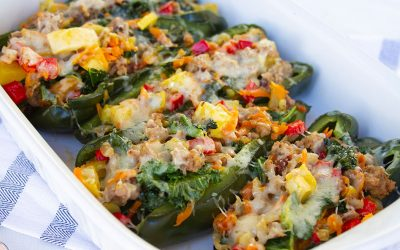 Veggie Stuffed Poblano Peppers